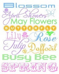 ... Showers May Flowers Butterfly Lily Rose Tulip Daffodil Busy Bee Spring