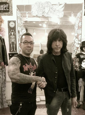 Hanging with Marky Ramone at Trash & Vaudeville