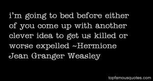 Favorite Hermione Jean Granger Weasley Quotes