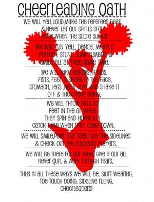 cheerleading oath! (: haha made this freshman yearr