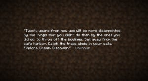 Minecraft Quotes End of minecraft quote by