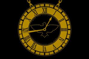 Flavor Flav Clock Design W Diamond Inlay Bird picture