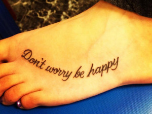 This quote about living without worry and being happy runs in a happy