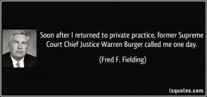Justice Burger Justice warren burger
