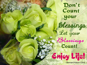 Have A Blessed Night Quotes Let your blessings count