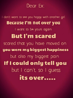 Dear Ex Boyfriend Quotes