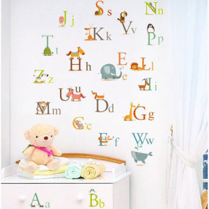 Educational Alphabet Wall Decals for Nursery Decorating