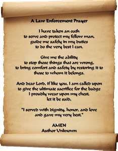 Law Enforcement Prayer More