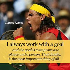 always work with a goal...