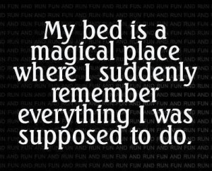 Funny Bed Quote, Facebook funny dp