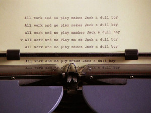 review of the novel Jack Nicholson writes in The Shining