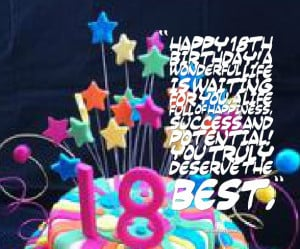 Happy 18th Birthday Wishes Quotes 18th birthday quotes