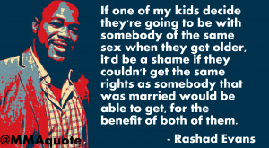 Rashad Evans on marriage rights for gay couples