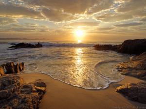 Beach near San José del Cabo, Mexico at sunrise