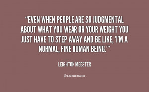 Quotes About People Being Judgemental