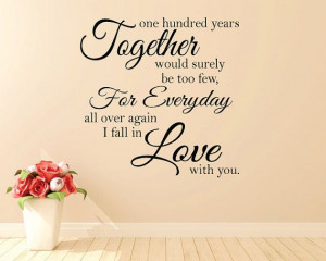 /one-hundred-years-together-would-surely?Happiness Love Quotes ...