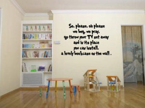 Roald Dahl throw you TV sets away quote vinyl by leebolddesigns, £17 ...