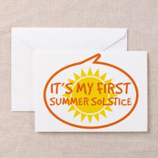 Babys First Summer Solstice Greeting Card for