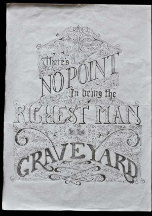 offset lithograph print of an entirely custom lettered quote poster