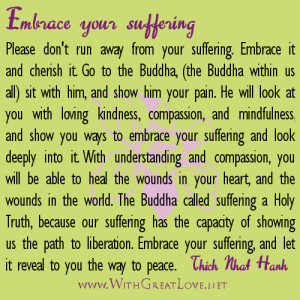 Picture Quotes on Transforming Suffering into Peace