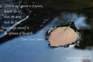quotes from thoreau celebrating october