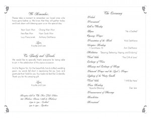 ... wedding programs wedding program wording program samples wedding