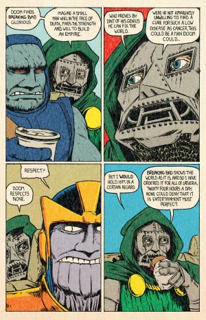 ... Dr Doom thanos Darkseid thanos and darkseid carpool buddies of doom