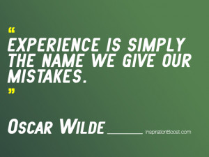 Oscar Wilde Learning Quotes