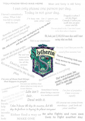 ... this image include: house pride, hogwarts, quotes, sarcasm and silver
