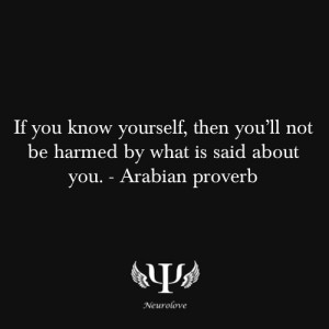 Know yourself quote! by Sacagawea