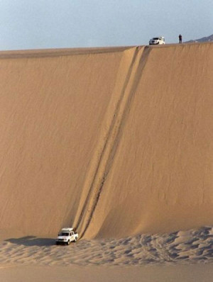 Funny photos funny car desert dune