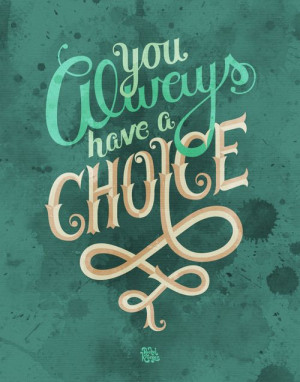 supernatural; you always have a choice