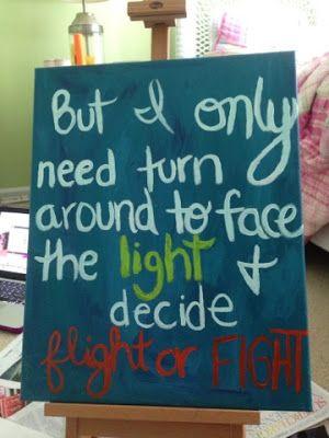 Sara Bareilles quote on canvas for Alex #painterwannabe www ...