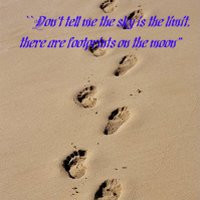 , footprints, beach, summer, quotes, sayings, sand photo: footprints ...