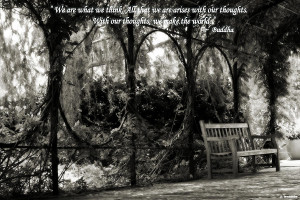 Buddha Quote On Tranquil Sitting Area Photograph