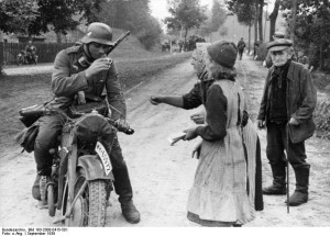 Possibly a K500 Zundapp. Poland 3rd Sept 1939.