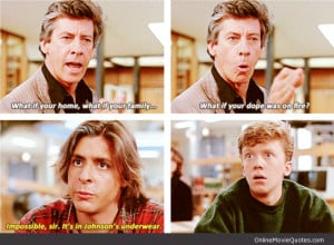 Movie quote from The Breakfast Club which launched careers of stars ...