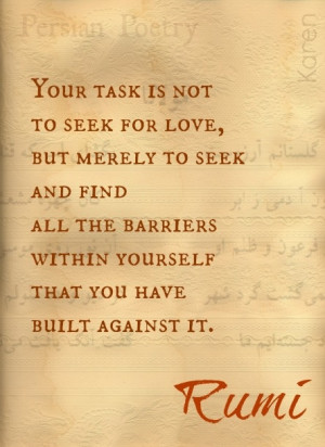 Rumi Quote, Persian Poet #challege #somethingIhavetodo