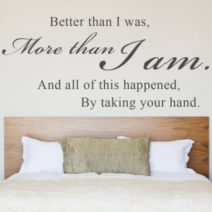 ... Your Hand - Wall Decal Sticker Vinyl Art Quote Bedroom Romantic Wall