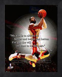 Dwyane Wade Miami Heat 8x10 Black Wood Framed Pro Quotes Photo   eBay