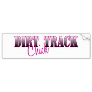 Dirt Track Chick Bumper Stickers