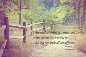 Robert Frost Art Road Less Traveled quote Poetry print Poem nature ...
