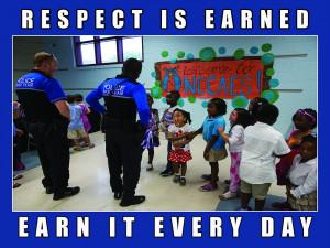 "Police Motivation Poster ""Respect"""