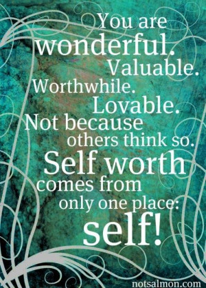 Self worth quote :)