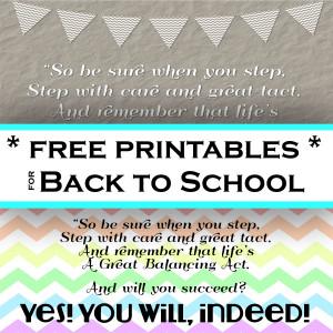 Back to School {Free Printables}