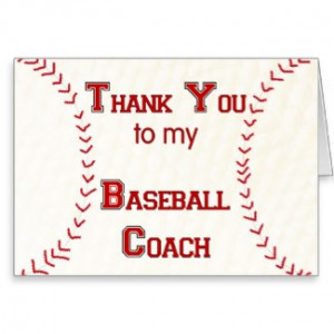 Thank You to my Baseball Coach Greeting Cards by dndartstudio