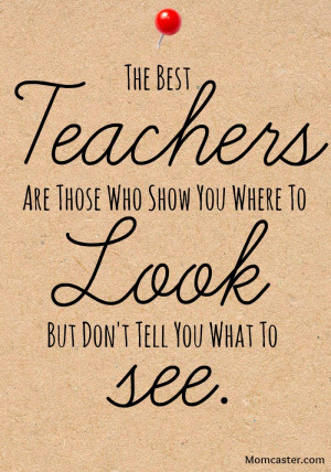 What about you? Do you remember the name of YOUR favorite teacher? I ...