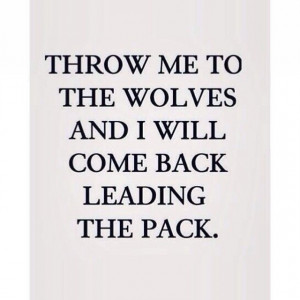 COME BACK LEADING THE PACK.