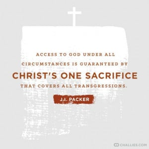 ... Christ's one sacrifice that covers all transgressions.