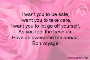 Bon Voyage Wishes Quotes